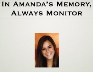 In Amanda's Memory, Always Monitor