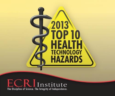 Source: http://www.prnewswire.com/news-releases/ecri-institute-releases-top-10-health-technology-hazards-report-for-2013-177263141.html
