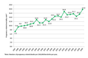 CDC Maternal death rates