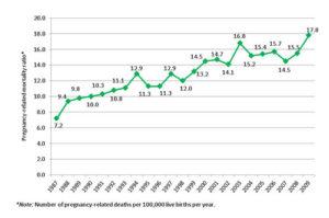 CDC Maternal death rates
