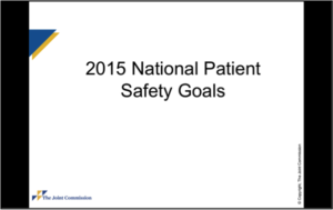 The Joint Commission 2015 Goals