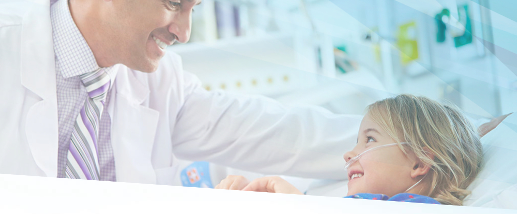 Doctor caring for child