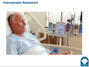 Patient Being Monitored with Capnography