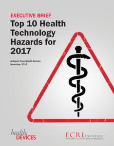 ECRI Institute 2017 Top-10 Health Technology Hazards report cover