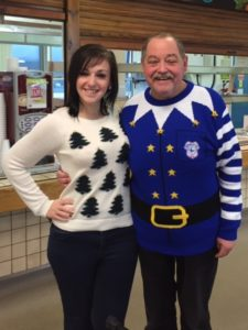 Jayne Bissmire and her father at Christmas 2015