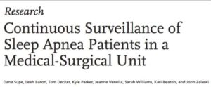 Continuous Surveillance Monitoring of Sleep Apnew Patients in a Medical-Surgcal Unit http://www.aami-bit.org/doi/pdf/10.2345/0899-8205-51.3.236?code=aami-site