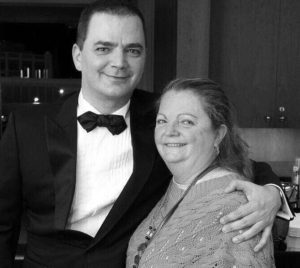 Helen Marie Bousquet and her son, Brian Evans